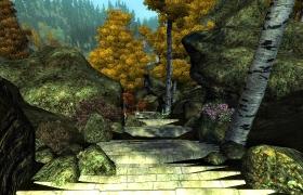 Вид с каменной лестницы.